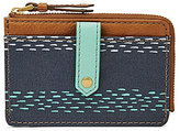 Fossil Keely Striped Tab Card Case