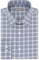 Michael Kors Men's Classic/Regular Fit Airsoft Stretch Non-Iron Performance Navy Check Dress Shirt