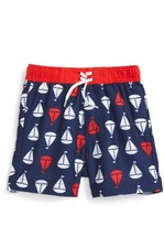 Little Me Infant Boy's Sailboat Swim Trunks