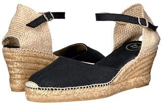 Toni Pons Caldes (Black Linen) Women's Shoes