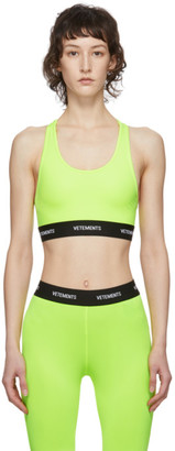 Vetements Yellow Jersey Sports Bra
