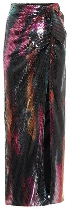 ATTICO Sequinned wrap maxi skirt