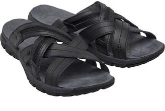 Karrimor Mens Cross Leather Slide Sandals Black