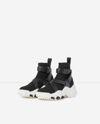 The Kooples Slick chunky black high-top trainers