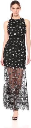 Aidan Mattox Aidan Women's Illusion Sequin Gown