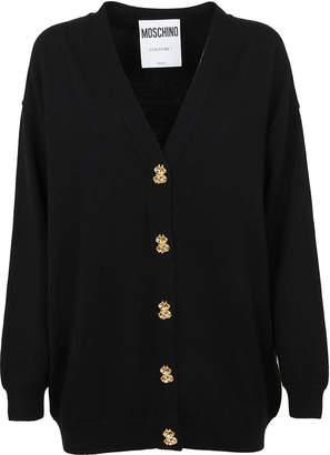 Moschino Black Wool Cardigan