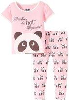 Kickee Pants Printed Pajama Set (Baby) - Lotus Panda - 3-6 Months