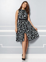 New York & Co. Eva Mendes Collection - Freya Floral Jacquard Dress