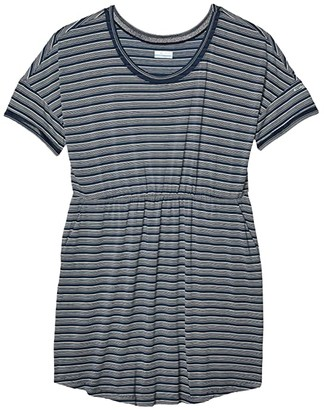 Columbia Plus Size Slack Watertm Knit Dress (Collegiate Navy Stripe) Women's Dress