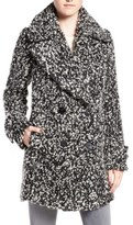 Diane von Furstenberg Women's Double Breasted Boucle Loop Peacoat