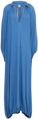 Totême Paliano Gathered Stretch-knit Maxi Dress