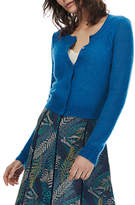 Brora Mohair Textured Cardigan, Dragonfly