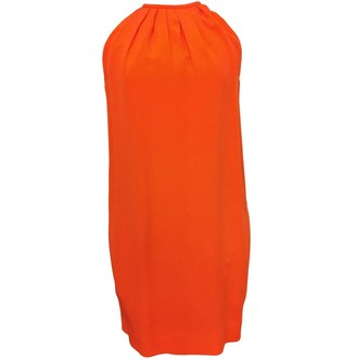 Celine \N Orange Silk Dress for Women