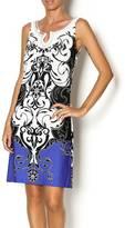 Joseph Ribkoff Beaded Print Dress