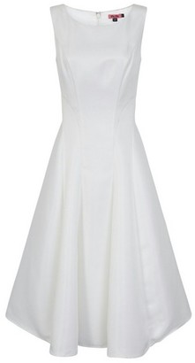 Dorothy Perkins Womens Chi Chi London White Midi Dress, White