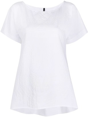 Pierantonio Gaspari geometric embroidered loose-fit T-shirt