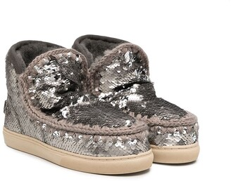 Mou Kids TEEN Eskimo sequin boots
