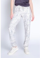 Thumbnail for your product : PJ Salvage Peachy Party Leopard Banded Pant, Oatmeal Small