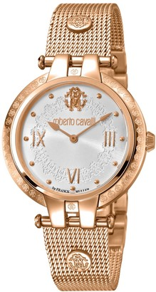 Rosegold Rose-Gold Tone Stainless Steel Bracelet Watch