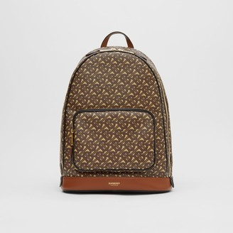 Burberry Monogram Print E-canvas and Leather Backpack