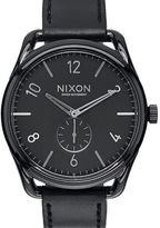 Nixon Black C45 Watch and Black Horween Leather