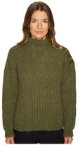Moschino Green Chunky Knit Women's Sweater