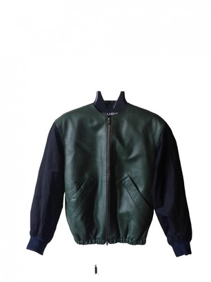 Carven Green Leather Jackets