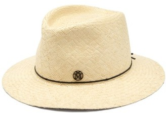 Maison Michel Andre Straw Trilby Hat - Beige