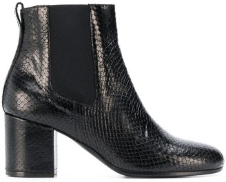 Via Roma 15 Snakeskin Effect Ankle Boots