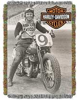 Harley-Davidson Race Time Tapestry Throw Blanket, 48 x 60 inch NW282841