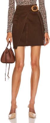 Nanushka Yeva Skirt in Espresso | FWRD