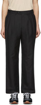 Junya Watanabe Black Wool Pleated Trousers