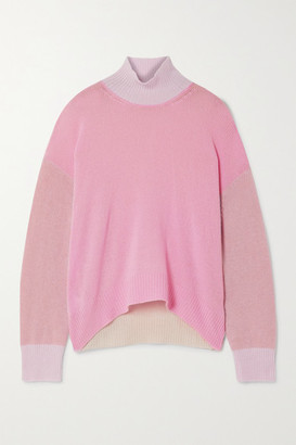 Marni Color-block Cashmere Sweater - Baby pink