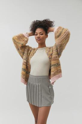 Urban Outfitters Kimberly Plaid Pleated Mini Skirt