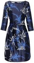 Oscar de la Renta Printed silk and cotton satin dress