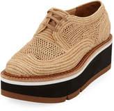 Clergerie Acajou Raffia Platform Loafers