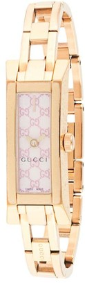 Gucci Pre-Owned pre-owned Quartz rectangular 35mm