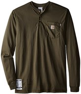 Carhartt Men's Big & Tall Flame Resistant Force Cotton Long Sleeve Henley