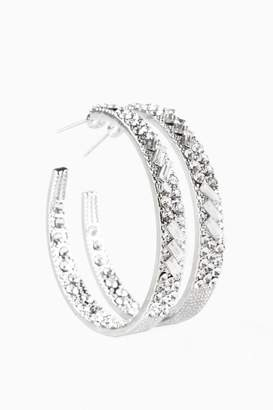 Paparazzi Blinged Hoops In Silver