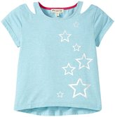 Appaman West Cutout Tee (Toddler/Kid) - Blue Dream Heather - 3T