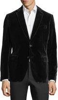 Salvatore Ferragamo Velvet Two-Button Blazer