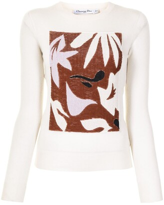 Christian Dior Pre-Owned Abstract Pattern Knitted Top
