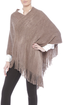 Twos Company Two's Company Metallic Taupe Poncho