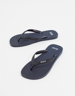 BOSS Pacific thongs in navy