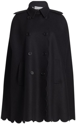 RED Valentino Lana Wool-Blend Scallop Coat