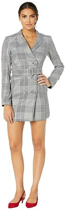 Bardot Ella Blazer Dress (Monocheck) Women's Clothing