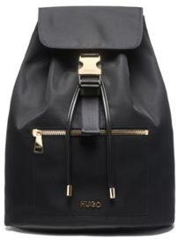 HUGO Nylon-gabardine backpack with gold-effect hardware