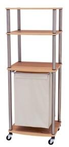 Household Essentials Laundry Hamper Storage Cart