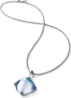 Baccarat Sterling Silver and Crystal Medicis Pendant Necklace