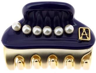 Alexandre de Paris Vendome Clip Pearls Blue 3Cm